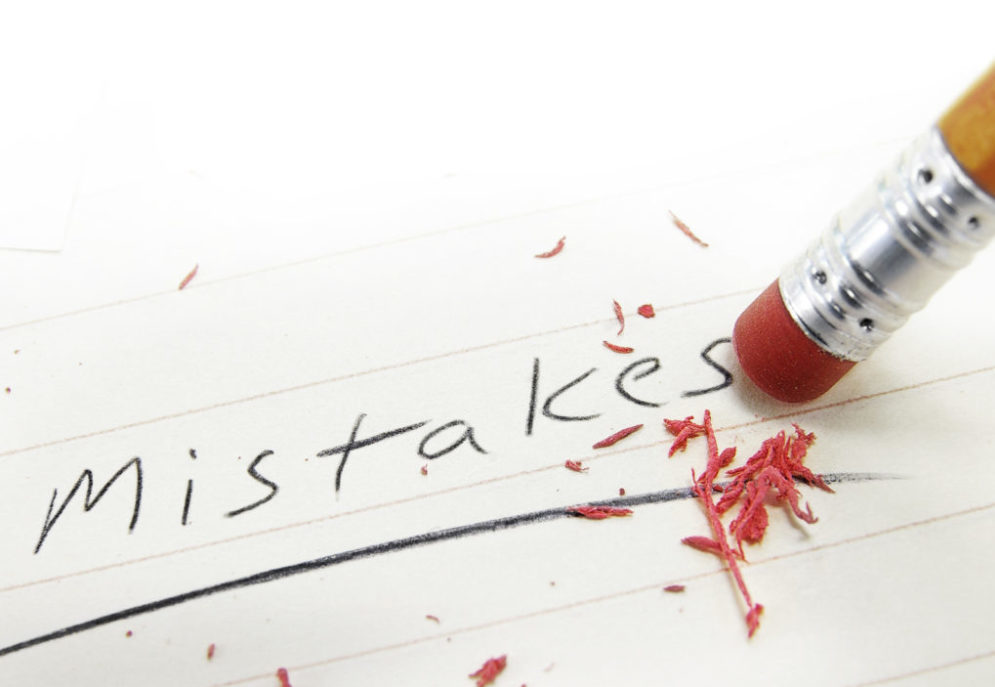 pencil erasing paper that has the word mistakes written to show that VARs can learn from previous mistakes